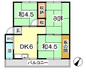 新倉敷マンション A1階Fの間取り画像
