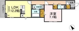 コンフォート新治町3階Fの間取り画像