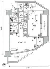 スカイコート蒲田壱番館5階Fの間取り画像