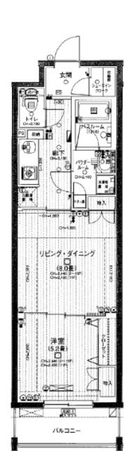日神デュオステージ関内大通り公園間取図