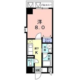 ポルトソーレ6階Fの間取り画像