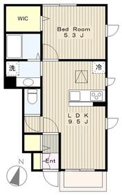 メゾン・ラ・セーヌ1階Fの間取り画像
