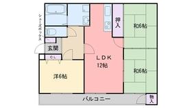 レジデンスT3階Fの間取り画像