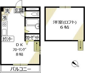 パインズウィンド五反田2階Fの間取り画像