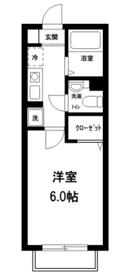 カーサOGURA2階Fの間取り画像