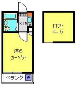 メゾン寺岡2階Fの間取り画像