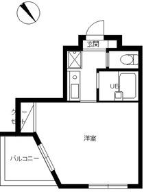 スカイコート文京小石川第25階Fの間取り画像