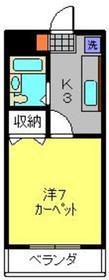 ヴィラロイヤル妙蓮寺1階Fの間取り画像