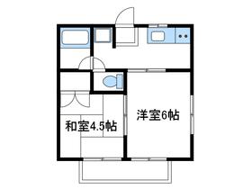サマックス鴨志田2階Fの間取り画像