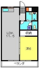 マンション築山第51階Fの間取り画像