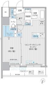 グラン,フォークス神田イーストタワー7階Fの間取り画像