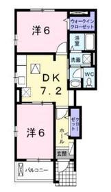 セピアコートヤマカナ1階Fの間取り画像