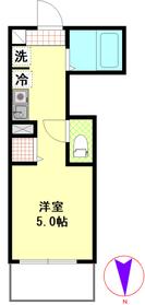 新丸子駅 徒歩5分3階Fの間取り画像