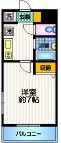 目黒駅 徒歩22分2階Fの間取り画像