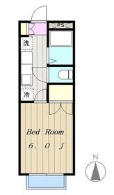 ヤガラハイツ2階Fの間取り画像