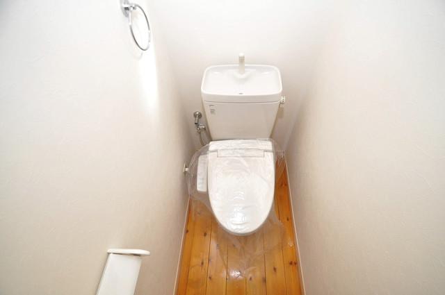 大蓮東1-22-30 貸家 清潔感のある爽やかなトイレ。誰もがリラックスできる空間です。