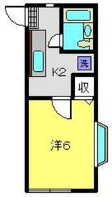 アバンス三ツ沢1階Fの間取り画像