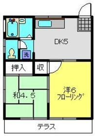 藤塚ハイツ1階Fの間取り画像