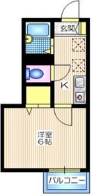 ネージェ1階Fの間取り画像