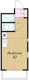 アップルハウス東林間2階Fの間取り画像