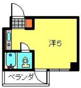 ベルビュー日吉2階Fの間取り画像