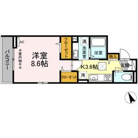 (仮)高松町3丁目レジデンスプロジェクト2階Fの間取り画像