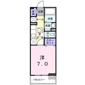 サンガーデン・ヴィオラ1階Fの間取り画像