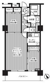 グランピラー高井戸11階Fの間取り画像