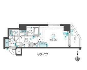 フェニックス武蔵関クアトロ5階Fの間取り画像