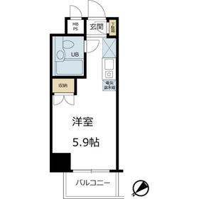 鶴見駅 徒歩8分7階Fの間取り画像