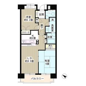 コースト・ヴィラ葛西臨海公園6階Fの間取り画像