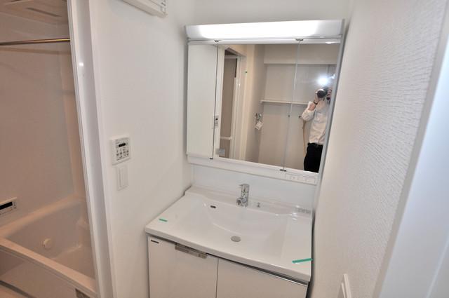 グランマーレ小路駅前 豪華な洗面台はもちろんシャンプードレッサー完備です。