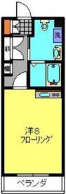 日吉セントラルアネックス1階Fの間取り画像