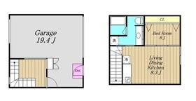 The Garage HASHIMOTO2階Fの間取り画像