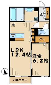 プライムフラット3階Fの間取り画像