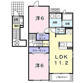 グリーンリーフI2階Fの間取り画像