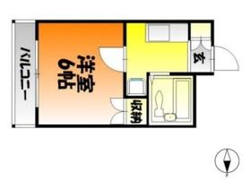 ジェントリイ田ノ上2階Fの間取り画像
