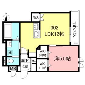 仮称)代田1丁目メゾン東棟3階Fの間取り画像