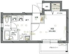 フォルトゥナ小石川5階Fの間取り画像