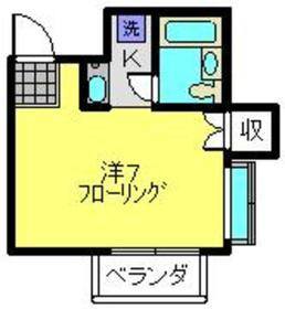 ハイツBUNMEI1階Fの間取り画像