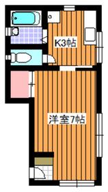 オオタニコーポ1階Fの間取り画像