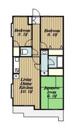 ウイジュール毛利台4階Fの間取り画像