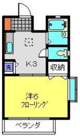 ブルーマロー鎌谷1階Fの間取り画像