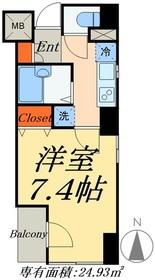 津田ビル2階Fの間取り画像