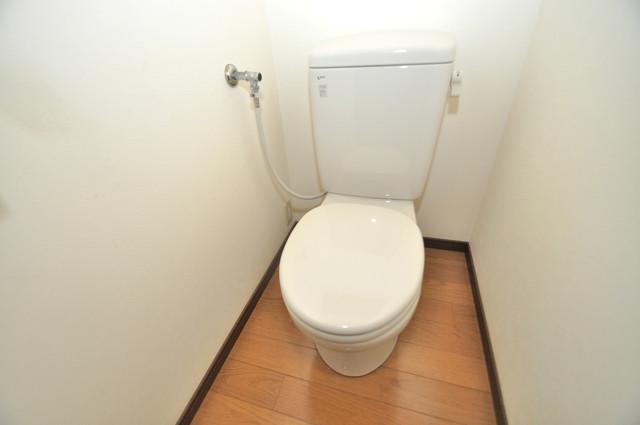 フレンディー 清潔感のある爽やかなトイレ。誰もがリラックスできる空間です。