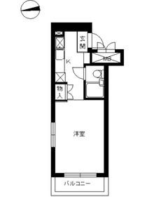 スカイコート綱島31階Fの間取り画像