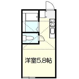 ヒルズ戸塚町2階Fの間取り画像