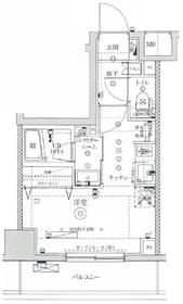 イアース横濱関内11階Fの間取り画像