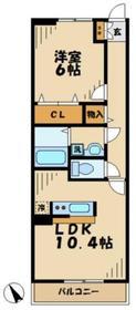 サンリットグローヴ1階Fの間取り画像