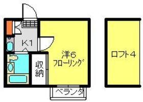 東戸塚駅 徒歩20分2階Fの間取り画像